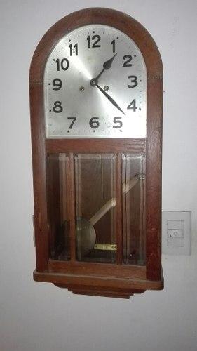 Excelente Antiguo Reloj A Pendulo,de Pared,funcionando