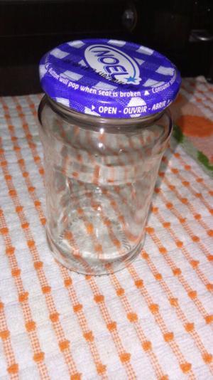 Frascos de vidrio con o sin tapa