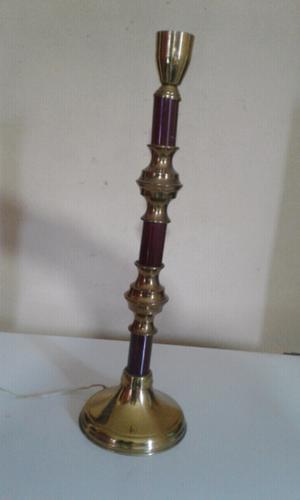 Lámpara de mesa de bronce combinada