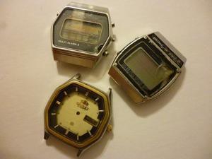 Lote De 3 Relojes Quartz Antiguos Citizen Seiko Y Orient