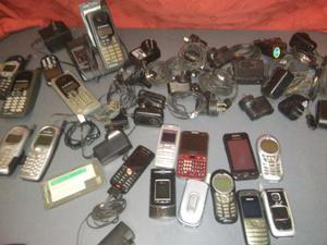 Lote celulares y cargadores todo los modelos