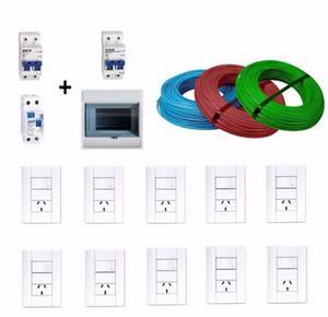Mat Electricos 3 Rollos Cable 2,5 +1 Disyuntor +2 Termicas