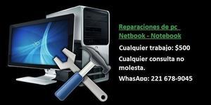 Reparaciones de pc y Netbook Notebook