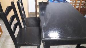 Vendo mesa de pino+4 sillas