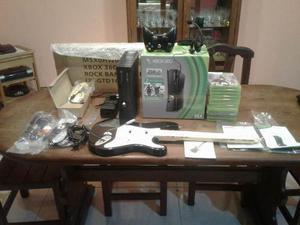 Xbox 360 Slim 256 Gb + 12 Juegos Fisicos + Guitarra