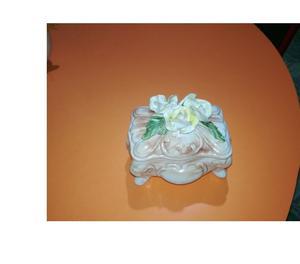 adorno pato de ceramica y alhajero