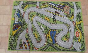 Alfombra Infantil Pista De Carrera De Autos