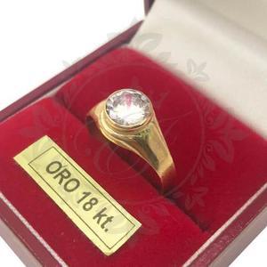 147425eae216 Anillos oro hombre mujer 18k sello oro piedra redonda 1.8 gr