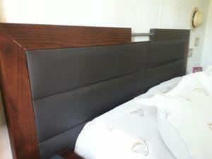 Juego de dormitorio 2 plazas: Respaldar + mesas de luz +