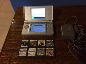 Nintendo Ds Lite + Cargador + 8 Juegos