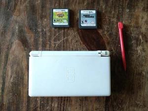 Nintendo Ds Lite + Estuche Y Juegos