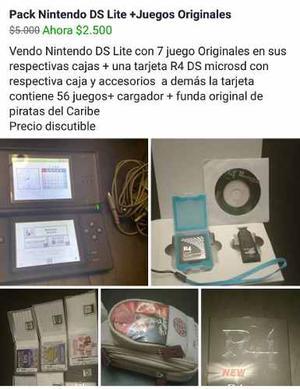 Nintendo Ds Lite +juegos