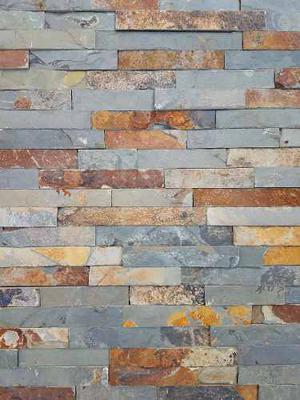 Piedra natural oxido en placas de x oferta posot class - Como colocar piedra natural ...