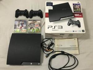 Play Station 3 Slim 160gb - 2 Joystick - Cables + 2 Juegos