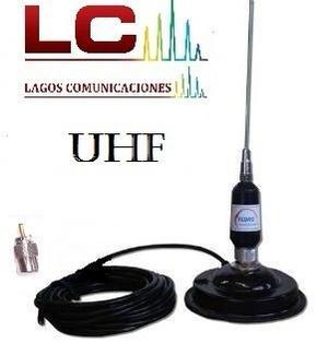 Antena Completa Base Magnética Vhf O Uhf A Eleccion