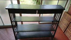 Mueble antiguo de estilo muy buena madera 4 estantes 2
