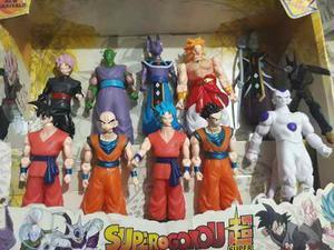 Muñecos Dragon Ball Super X10 Oferta Goku Blue /goku Black