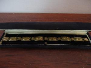 Pulsera Rosas En Oro 14k Sello Alemania Art Nouveau Kj