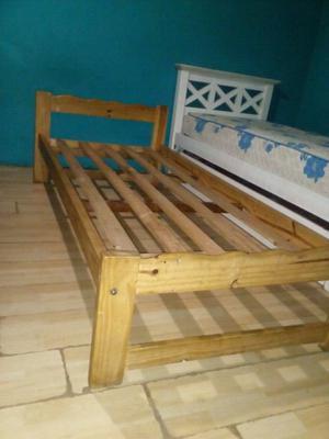 Vendo cama con carrito de una plaza