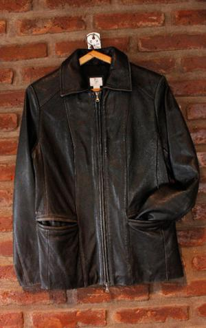 CAMPERA 100% CUERO Unisex - Color Negro - Talle M - Modelo