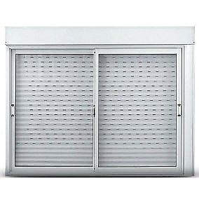 Ventana de aluminio con persiana de pvc 120x110