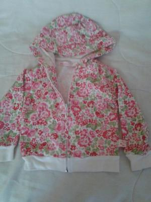 Campera Mimo Girls Capucha T 2 Floreada Use 1 Vez