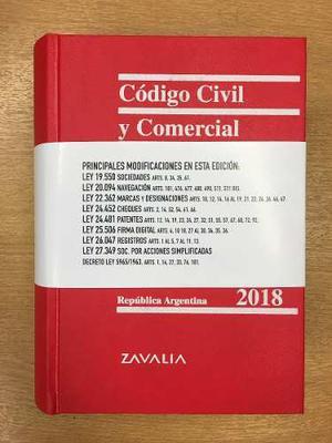 Código Civil Y Comercial  - Zavalia - Tapa Dura - Ldj