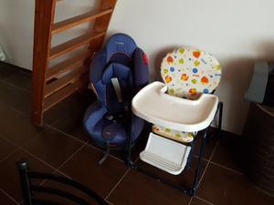 Silla para auto muy segura y silla de comer
