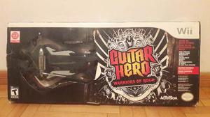 Guitar Hero Wii - Warrior Of Rock - Nueva - Reliquia !