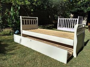 Vendo cama cajón de 1 plaza