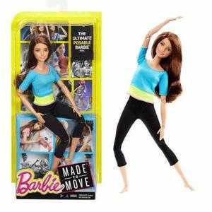Barbie Made To Move Movimientos Ultraflexible Yoga Castaña