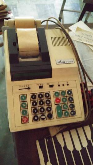 Calculadora registradora con impresora CIFRA P 121- V.