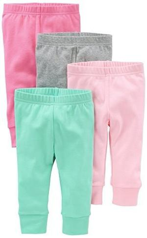 Carters Ropa Bebe Niñas Pantalones Pack X 4, 0 A 24 Meses