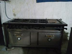 Cocina industrial dos hornos posot class for Cocinas 8 hornallas