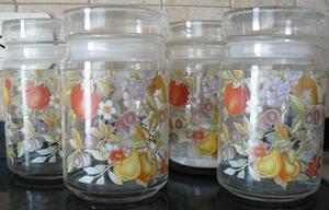 Frascos de vidrio con tapa hermética