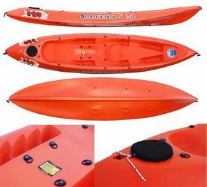 Kayak Triplo Sportkayaks + 2 Remos + 2 Salvavidas