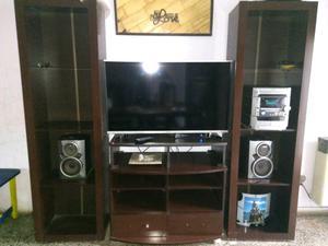 Mueble en melamina para tv audio y video