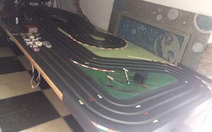 Pista Scalextric 3 Vias! Autos con Luz!