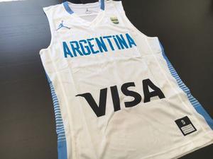 Camiseta argentina basquet oficial kappa titular  3c02ffa670b94