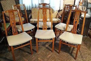 Juego de 6 sillas canadiense