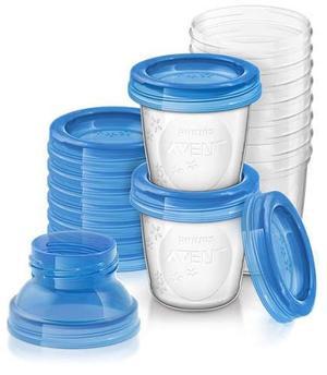 Kit x 10 vasos almacenamiento de leche Avent