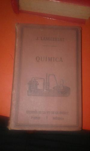 Libro antiguo de quimica j lamglebert