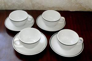 Lozadur, 4 tazas y 4 platos