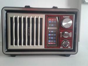 Radio Retro Vintage Bateria Bluetooth Luz Usb Envio Gratis