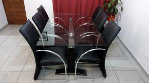 Vendo mesa de vidrio y sillas