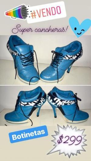 Zapatos Cerrado Mujer Botines Botinetas Como Nuevos