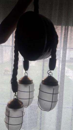 LÁMPARA COLGANTE ESTILO MARINO 3 lamparas