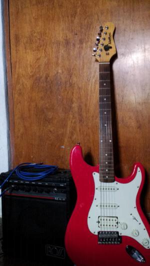 Guitarra Washburn Lyon Series/Amplificador y accesorios