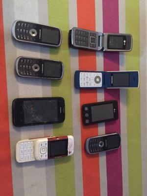 Lote celulares lg motorola samsung