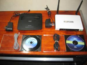 JUEGO DE MODEMS ROUTER ADSL2 CISCO Y TP LINK
